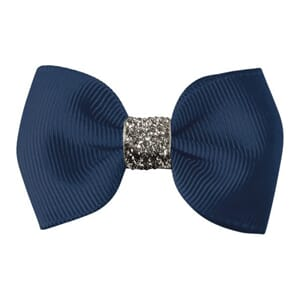 Small bowtie bow navy glitter - Milledeux
