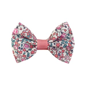 Small bowtie bow liberty Eloise C pink middle  - Milledeux