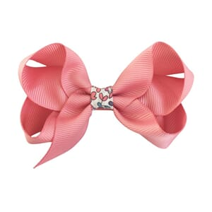 Medium boutique bow Dusty Rose Liberty middle - Milledeux
