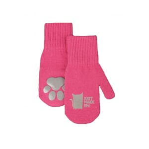 Long magic mittens dark pink - Kattnakken