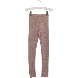 Wool Leggings fawn print - Wheat