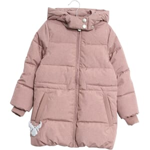 Down Coat Nanny plum melange - Wheat