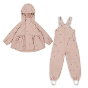 Palme Rainwear Set cherry/blush - Konges Sløjd