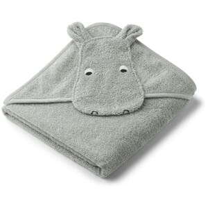 Albert hooded towel hippo dove blue - Liewood
