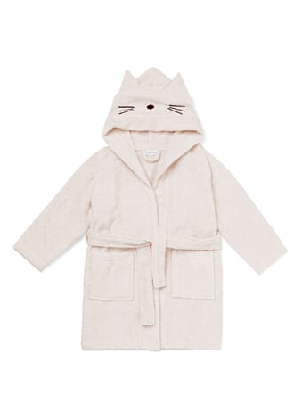 Lily bath robe cat sweet rose - Liewood