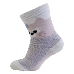 Babysock - Kitty w/lurex Laté - Melton