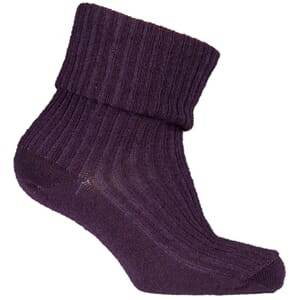 Basic Sock - Wool w/Heavy Rip aubergine - Melton