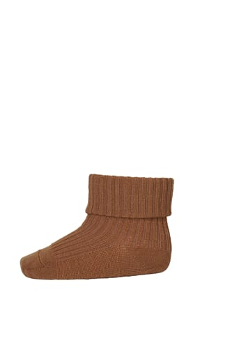 Ankle Wool Rib Turn Down dark honey - MP