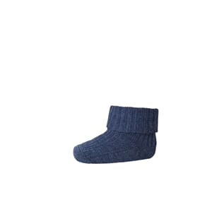 Ankle Wool Rib Turn Down denim mel. - MP