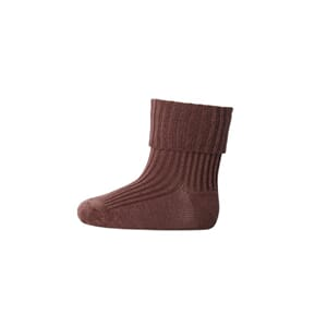Ankle Wool Rib Turn Down sienna brown - MP