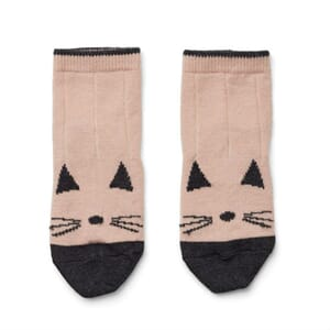Silas wool socks cat rose - Liewood