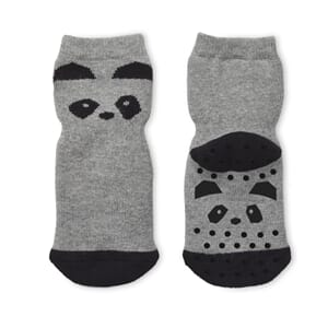 Nellie anti slip socks panda grey melange - Liewood