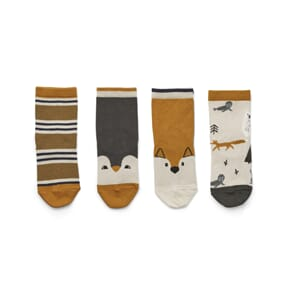 Silas cotton socks - 4 pack arctic mix - Liewood