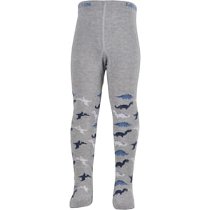 Babytights - Dinosaurs light grey melange - Melton