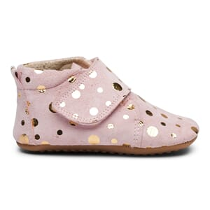 Beginners velcro shoe rose gold dot - Pom Pom