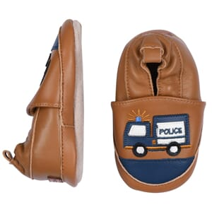 Leather slippers Police truck - Melton