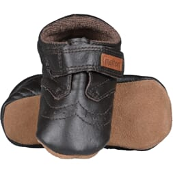 Leather shoe - Velcro brown - Melton