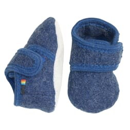 Wool Soft Shoe dark blue melange - Melton