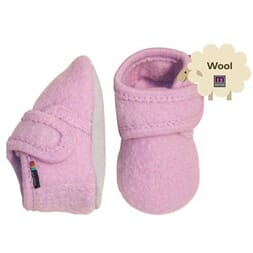 Wool soft shoe w/velcro Alt Rosa - Melton