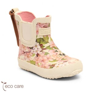 Baby Rubber Boot basic creme-flowers - Bisgaard