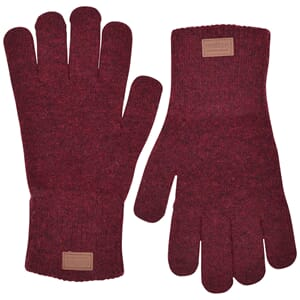 Wool Gloves Burgundy - Melton
