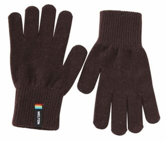 Gloves wool brown - Melton